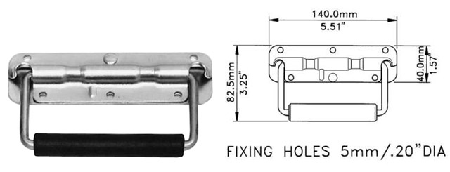 Sprung Drop Handle H1053